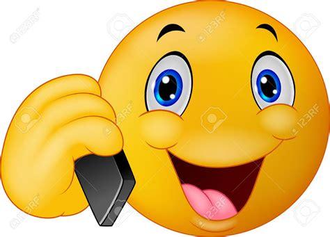 imagenes de emoticones alegres cartoon emoticon sonriente hablando por tel 233 fono celular