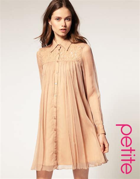 Swing Chiffon Dress lyst asos collection asos swing dress in lace chiffon in