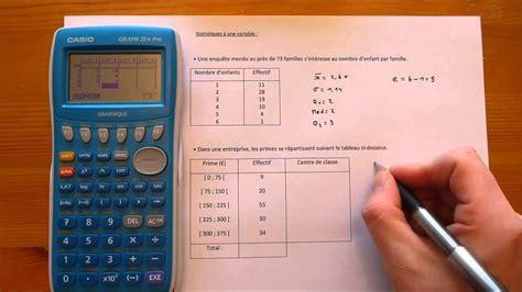 comment calculer les principaux indicateurs statistiques