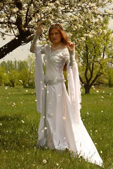 wedding destinations medieval celtic wedding dress