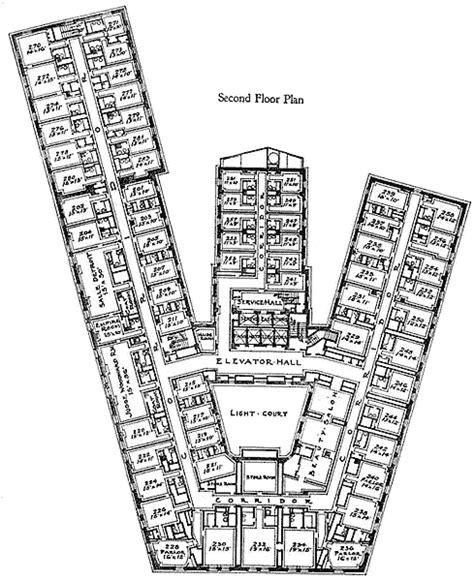 the statler hotel mezzanine floor plan the statler hotel fifth floor plan