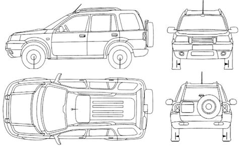 4x4 Sketches by 4x4 Land Rover Freelander Wagon Drawing 4x4 Land