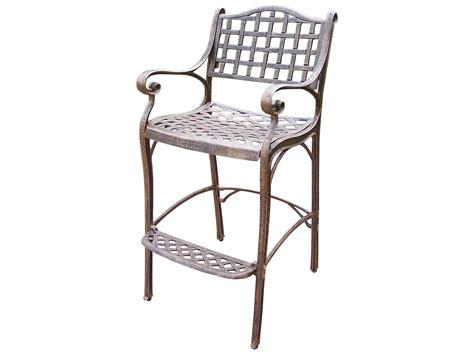 cast aluminum bar stools oakland living elite cast aluminum bar stool with foot
