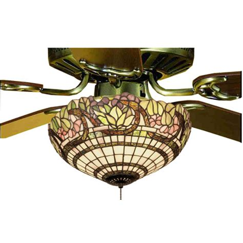 Meyda 12706 Tiffany Handel Grapevine Fan Light Fixture