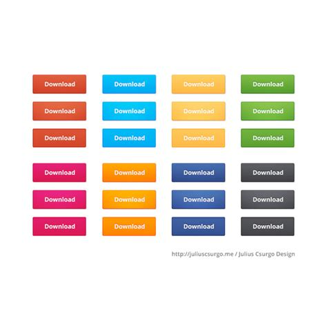 ui pattern buttons 24 beautiful gradient ui buttons set psd freebie