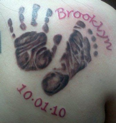baby handprint tattoos designs baby s handprint footprint tattoos i m going to do this