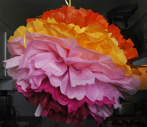 How To Make Coral Out Of Paper - tissue paper pom poms itsweet savory