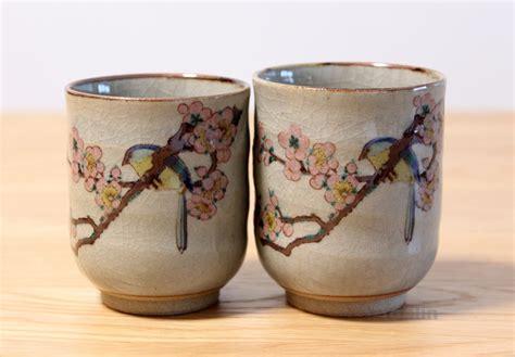 Large Kitchen Knives kutani yaki ware yunomi kacho japanese tea cup set of 2