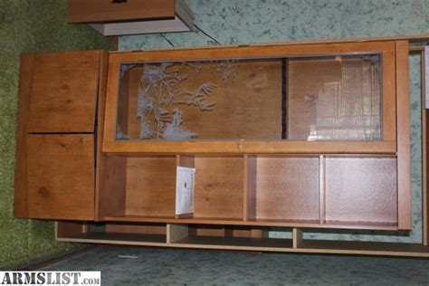 armslist for sale locking 6 gun cabinet with etched