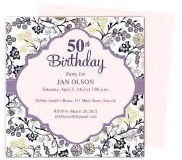 50th birthday invitation template gangcraft net