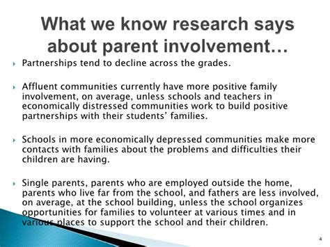 Parent Involvement In Education Essay by Parent Involvement Presentation