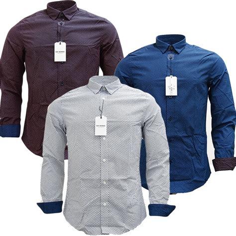 Ben Shirt mens shirts ben sherman sleeve slim fit mod squares shirt
