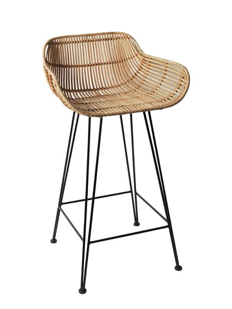 cane bar stool inspired by classic 1950 s design and material our