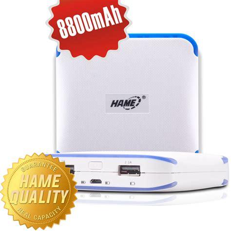 Power Bank Hame 8800 Dual Usb Output Mp11 hame power bank 8800mah dual usb output model hame me14 me14 white jakartanotebook