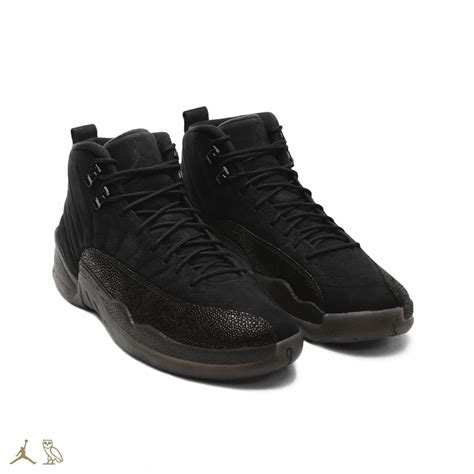 all black air jordan 12 all black lib value
