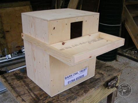 how to make an owl box barn owl nestbox for buildings the barn owl trust