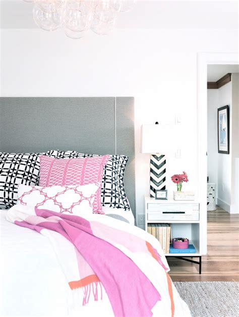navy and pink bedroom cococozy a traditional home with an eclectic twist in