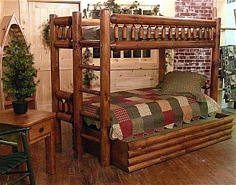 Log Bunk Beds With Trundle Wooden Bunk Beds What To Choose Log Bunk Bed Adds The Green Touch To Your Home
