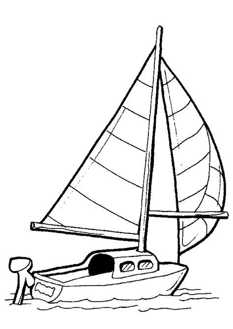 dessin d un bateau à voile un voilier 224 moteur 224 colorier coloriages de bateaux