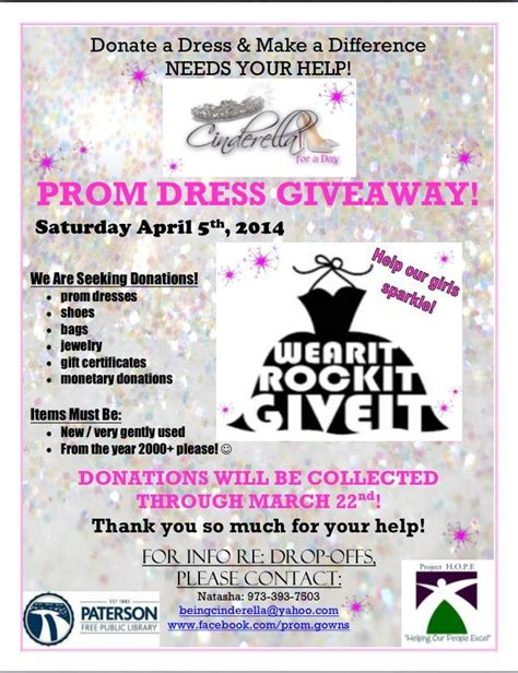 Prom Sweepstakes - donations needed for free prom dress giveaway beingcinderella yahoo com my style