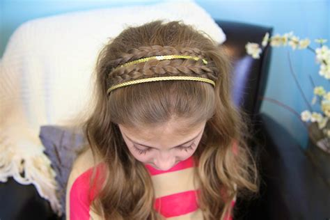 cute girl hairstyles headband twist double braid sparkly headband braided headbands cute