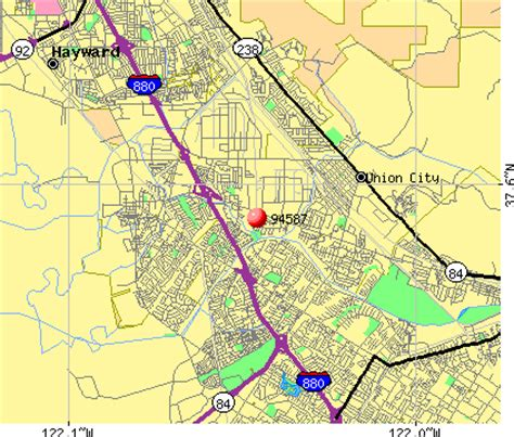 Zip Code Map Union City Ca | union city california map