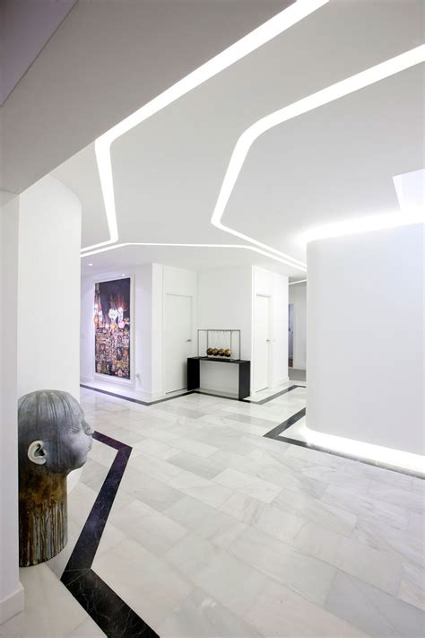 design apartment madrid white hallway modern apartment in madrid designed by