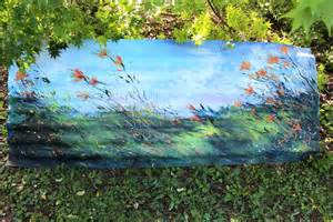 Garden art on the wild side painted on corrugated iron