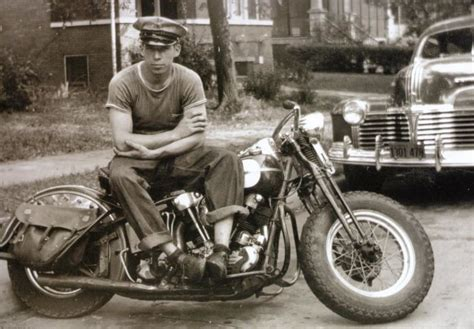 Motorrad Blinker H He by 1941 George Smith Sr Pictured Here At Just 19 Yrs On