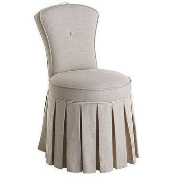 skirted vanity chair francie white swivel chair