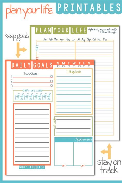 Daily Goals Plan Your Life Printable Domestic Mommyhood Daily Goals Template