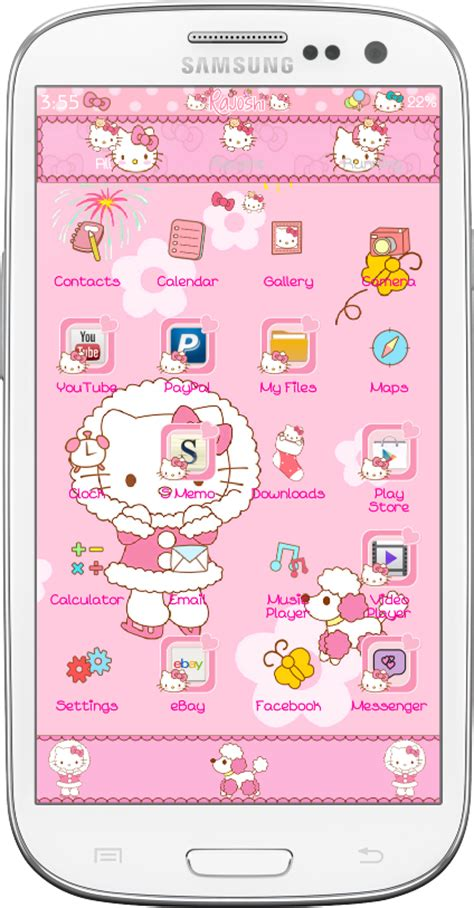 zero hello kitty themes pretty droid themes hello kitty winter go launcher theme