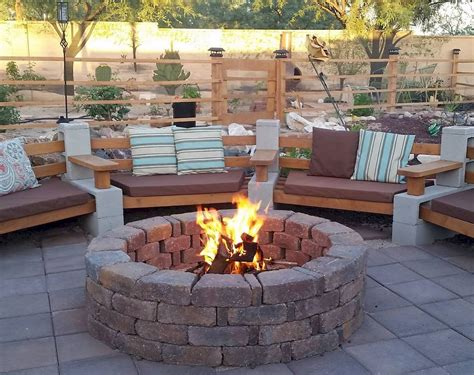 80 DIY Fire Pit Ideas and Backyard Seating Area   roomodeling