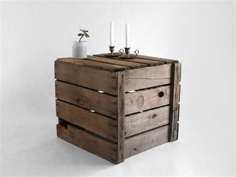 crate side table rustic wood crate side table for the home