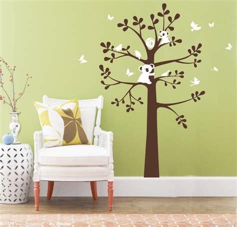 nursery wall decorations removable stickers koala bird on tree wall decor vinyl decal baby