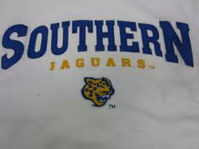 Southern Jaguars Southern Jaguars White Embroidered Sleeve T