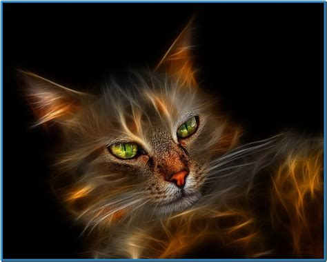 3d Cat 3d screensavers with cat free