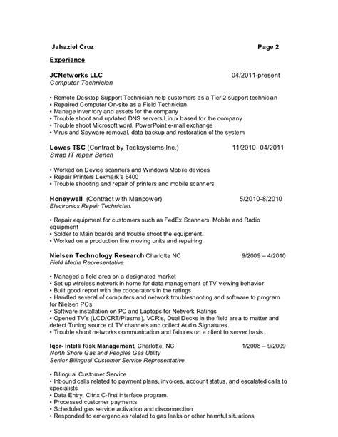 Sle Resume Help Desk Technician Computer Support Tech Resume 28 Images Help Desk Technician Resume Resume Badak Best