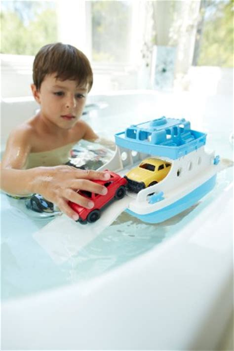 toy boats for bathtub green toys ferry boat with mini cars bathtub toy blue white