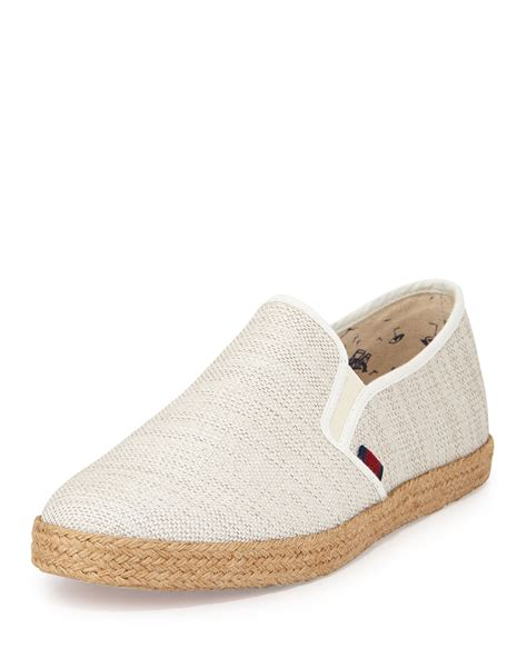 ben sherman jenson canvas slip on shoe in white for lyst