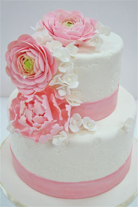 pink bridal shower cake ideas bridal shower cakes nj pink flowers custom cakes