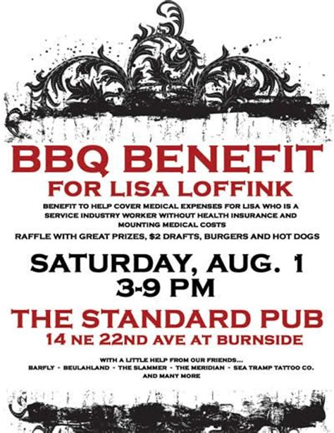 Benefit Flyer Wording