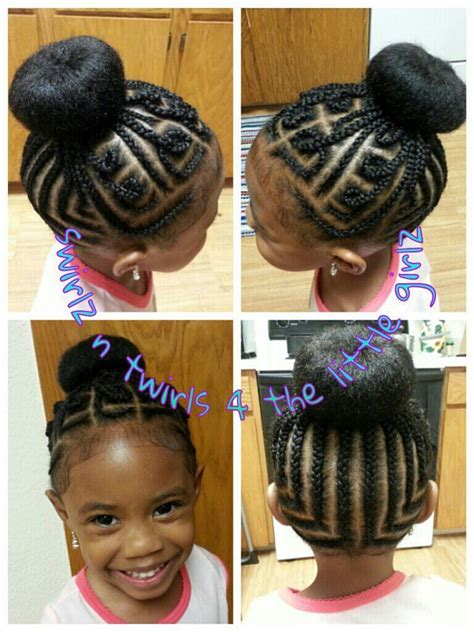 easy black cornroll updo hairstyles to do at home 165 best images about natural kids cornrow buns on