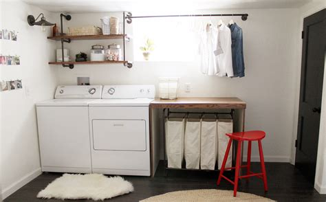 basement laundry room makover idea before and after plus