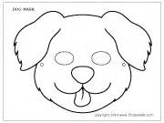free coloring pages of dog face mask
