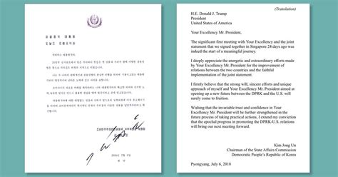 Trumps Letter To Korea