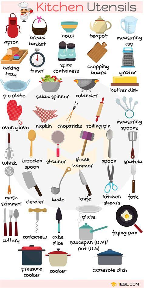 kitchenware kitchen vocabulary words  pictures
