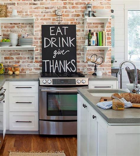 brick kitchen ideas brick backsplashes rustic and full of charm