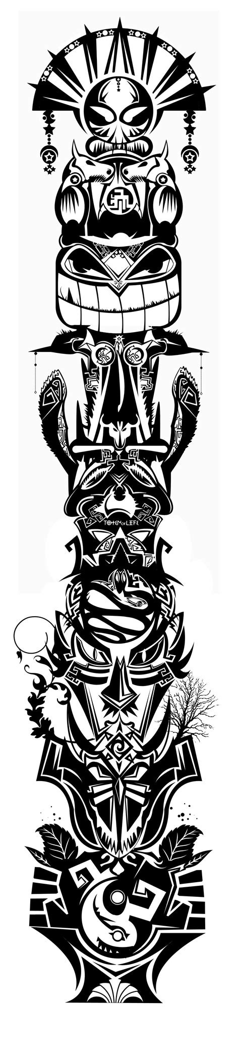 tribal totem pole tattoo designs totem designs madscar vision