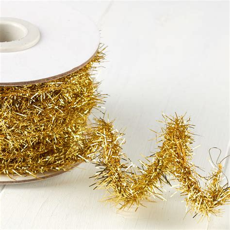 vintage christmas rope and tinsel gold tinsel rope garland garlands and winter crafts